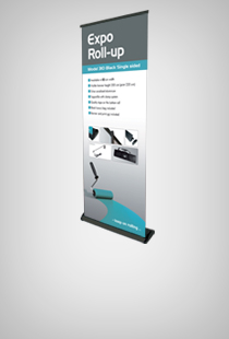 Expo Roll-Up Black einseitig