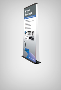 Expo Roll-Up Black doppelseitig