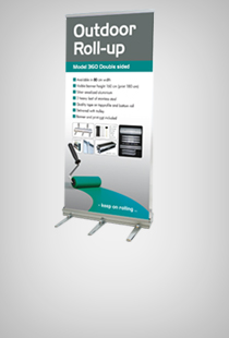 Outdoor Roll-up doppelseitig